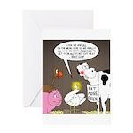 Farm Animal Menu Issues Greeting Card
