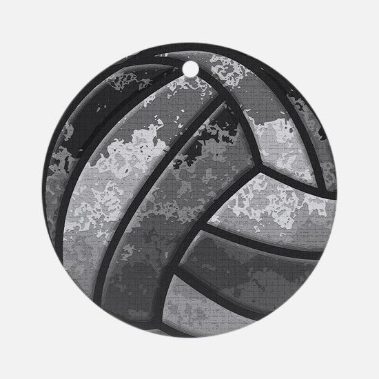 Cute Volleyball Round Ornament
