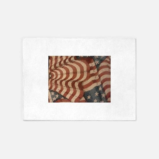 Americana 5'x7'Area Rug