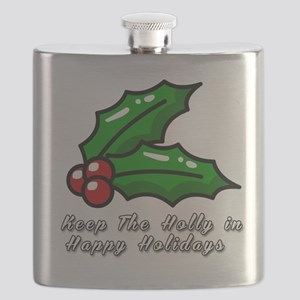 Holly in Holidays Flask