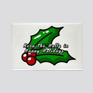Holly in Holiday Magnets