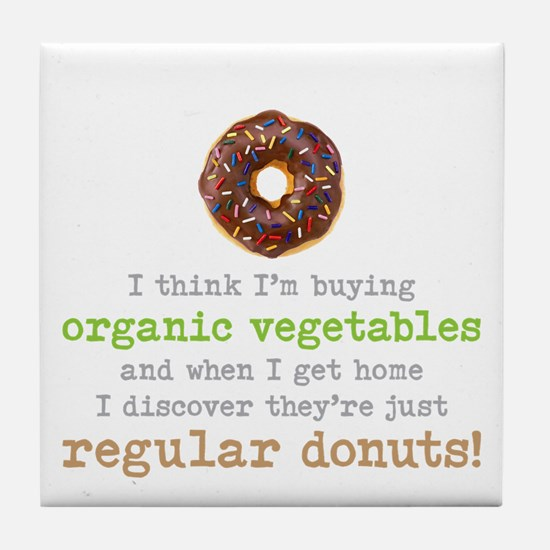 Organic Donuts - Tile Coaster