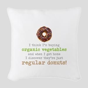 Organic Donuts - Woven Throw Pillow