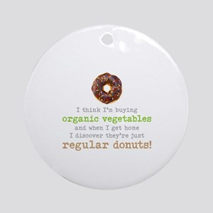 Organic Donuts - Round Ornament