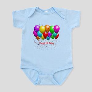 Happy Birthday Balloons Body Suit