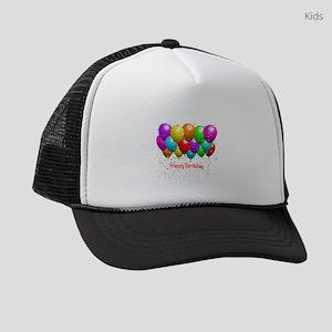 4921b43c1f0 Happy Birthday Kids Trucker Hats - CafePress