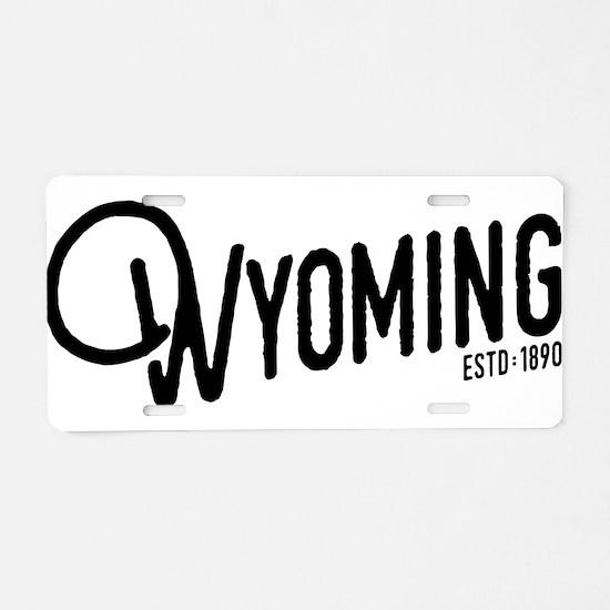 Wyoming Script Aluminum License Plate