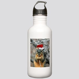 Christmas Squirrel Stainless Water Bottle 1.0L