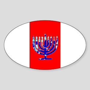 Red Vibrant Menorah Hanukkah Jason's Fave Sticker