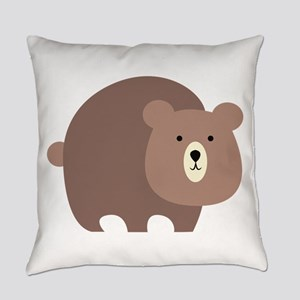 Brown Bear Everyday Pillow