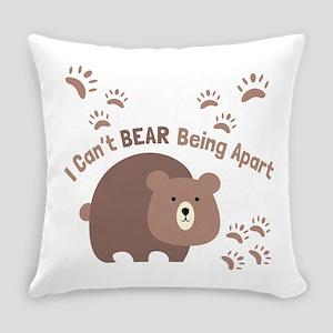Bear Being Apart Everyday Pillow