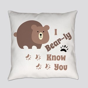 Bear-ly Know You Everyday Pillow