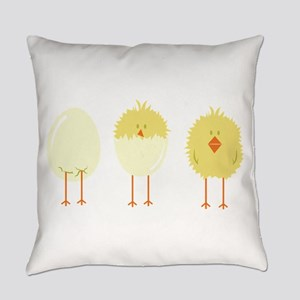 Hatched Chick Everyday Pillow