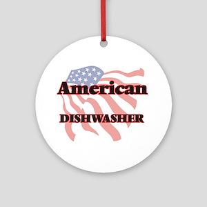 American Dishwasher Round Ornament