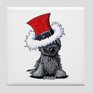 Christmas Cairn Tile Coaster