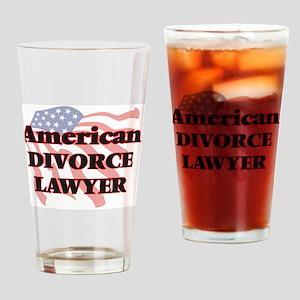 American Divorce Lawyer Drinking Glass