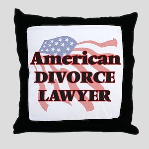 American Divorce Lawyer Throw Pillow