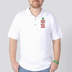 Keep Warm and Knit for Xmas Golf Shirt