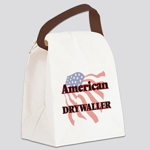 American Drywaller Canvas Lunch Bag
