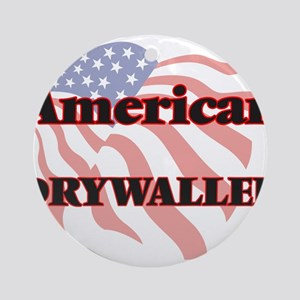 American Drywaller Round Ornament