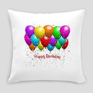 Happy Birthday Balloons Everyday Pillow