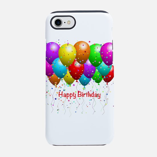 Happy Birthday Balloons iPhone 8/7 Tough Case