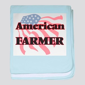 American Farmer baby blanket