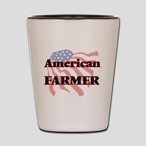 American Farmer Shot Glass