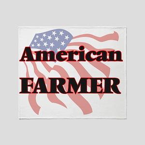 American Farmer Throw Blanket