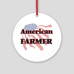 American Farmer Round Ornament