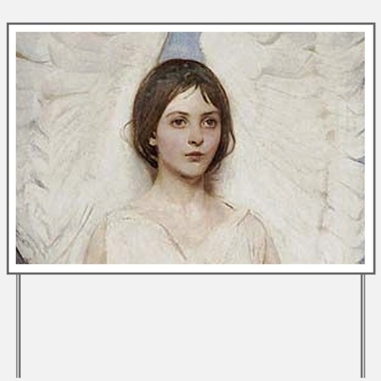 Angel 1887 By Albert Handerson Yard Sign