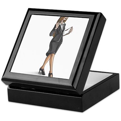 Business Woman Keepsake Box