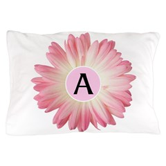 Personalize Pink Daisy Pillow Case