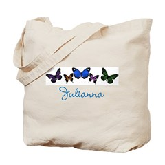 Personalize Butterflies Tote Bag