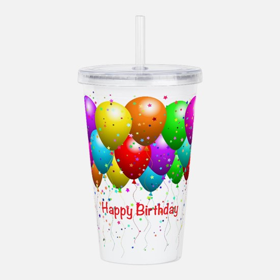 Happy Birthday Balloon Acrylic Double-wall Tumbler