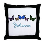 Personalize Butterflies Throw Pillow
