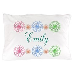 Personalize Flowers Pillow Case