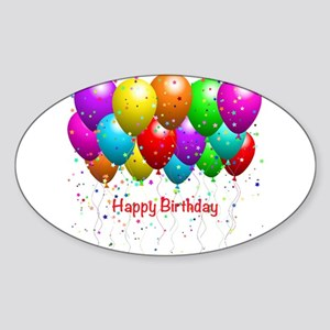 Happy Birthday Balloon Sticker
