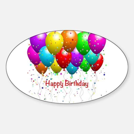 Happy Birthday Balloon Decal