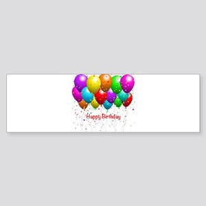 Happy Birthday Balloons Bumper Sticker