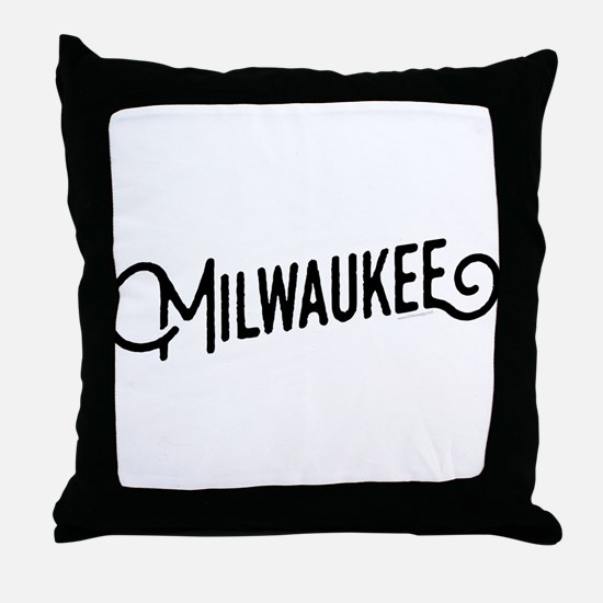 Milwaukee Wisconsin Throw Pillow