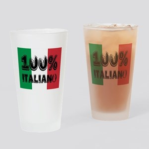 100% Italiano Drinking Glass