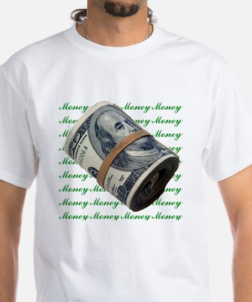 MONEY MONEY MONEY White T-Shirt