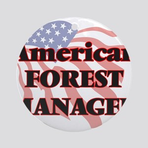 American Forest Manager Round Ornament