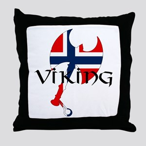 Norway Viking Throw Pillow