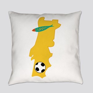 Portugal Map Everyday Pillow