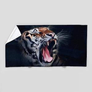 Roaring Tiger Beach Towel