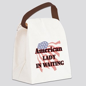 American Lady In Waiting Canvas Lunch Bag