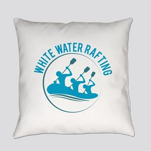 White Water Rafting Everyday Pillow