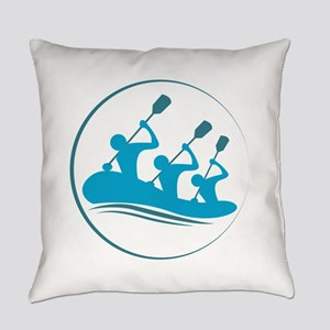 River Rafting Everyday Pillow